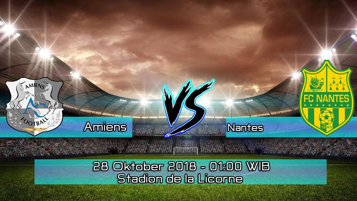 Prediksi Skor Pertandingan Amiens vs Nantes 28 Oktober 2018
