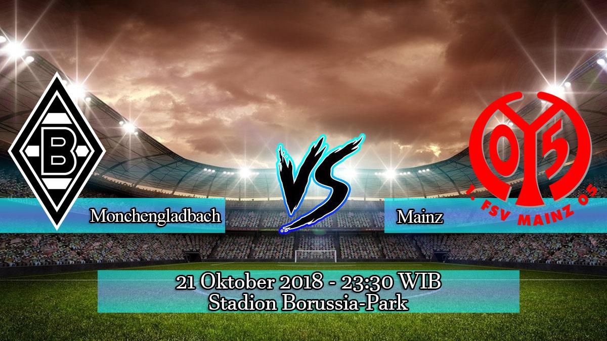 Prediksi Skor Pertandingan Borussia Monchengladbach vs Mainz 21 Oktober 2018