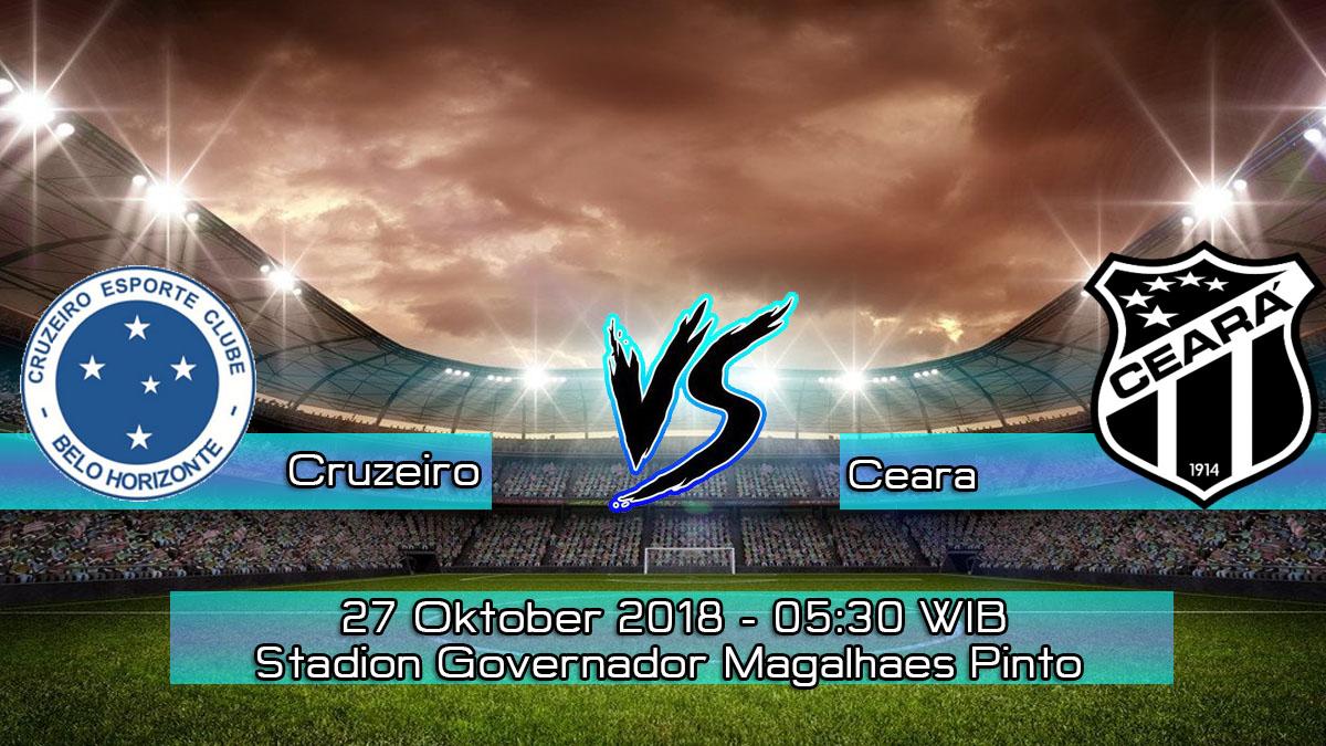 Prediksi Skor Pertandingan Cruzeiro vs Ceara 25 Oktober 2018