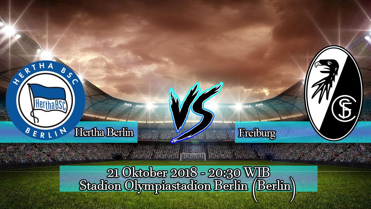 Prediksi Skor Pertandingan Hertha Berlin vs Freiburg 21 Oktober 2018