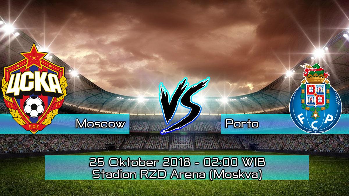 Prediksi Skor Pertandingan Lokomotiv Moscow vs Porto 25 Oktober 2018