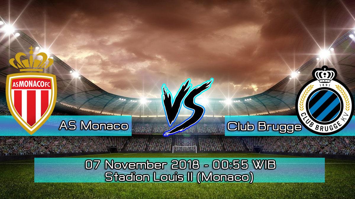 Prediksi Skor Pertandingan AS Monaco vs Club Brugge 7 November 2018