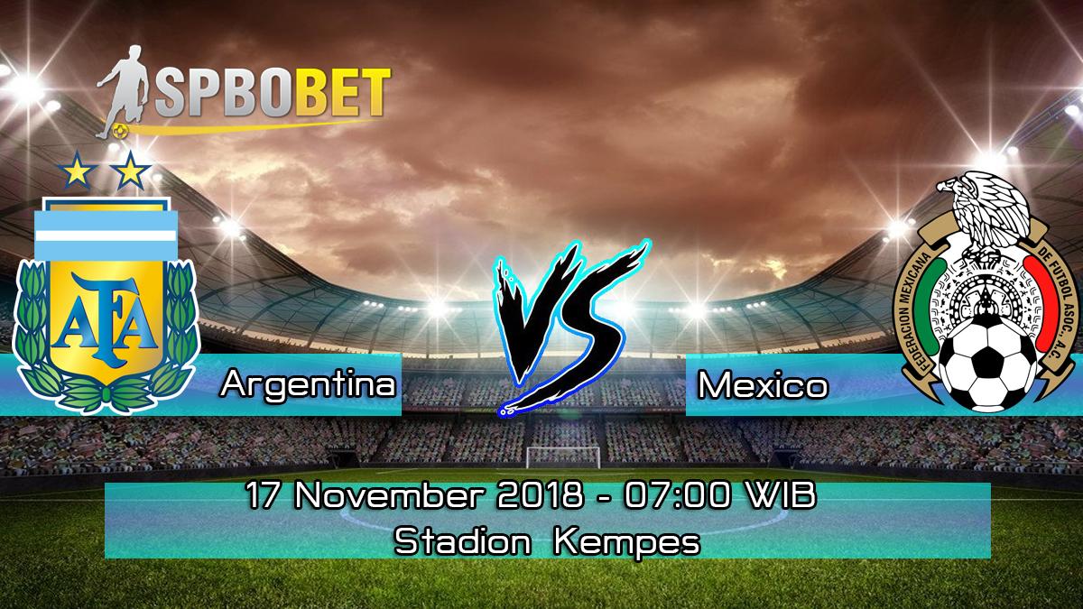 Prediksi Skor Pertandingan Argentina Vs Mexico 17 November 2018