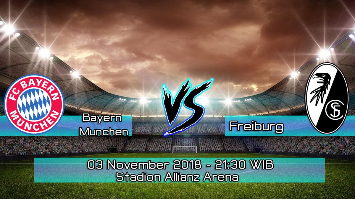 Prediksi Skor Pertandingan Bayern Munchen vs Freiburg 3 November 2018