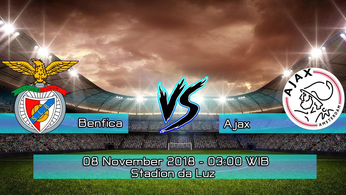 Prediksi Skor Pertandingan Benfica vs Ajax 8 November 2018