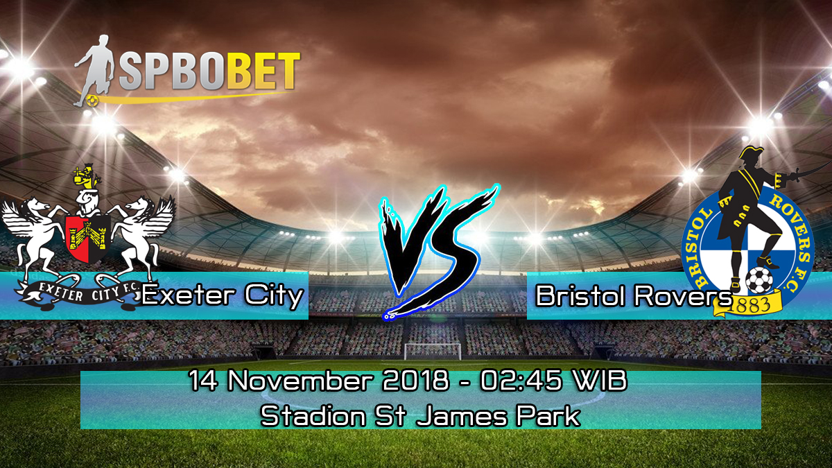 Prediksi Skor Pertandingan Exeter City vs Bristol Rovers 14 November 2018