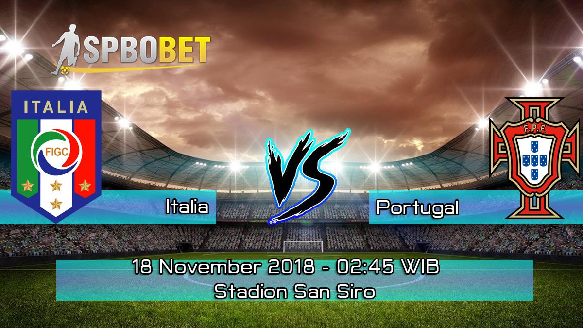 Prediksi Skor Pertandingan Italia Vs Portugal 18 November 2018