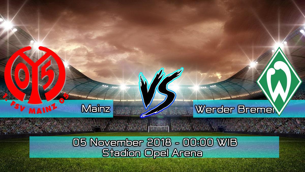 Prediksi Skor Pertandingan Mainz vs Werder Bremen 5 November 2018