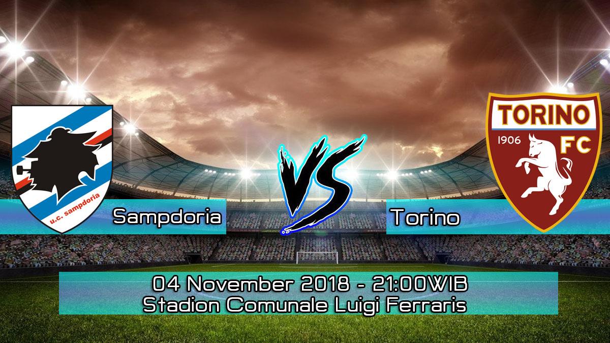 Prediksi Skor Pertandingan Sampdoria vs Torino 4 November 2018
