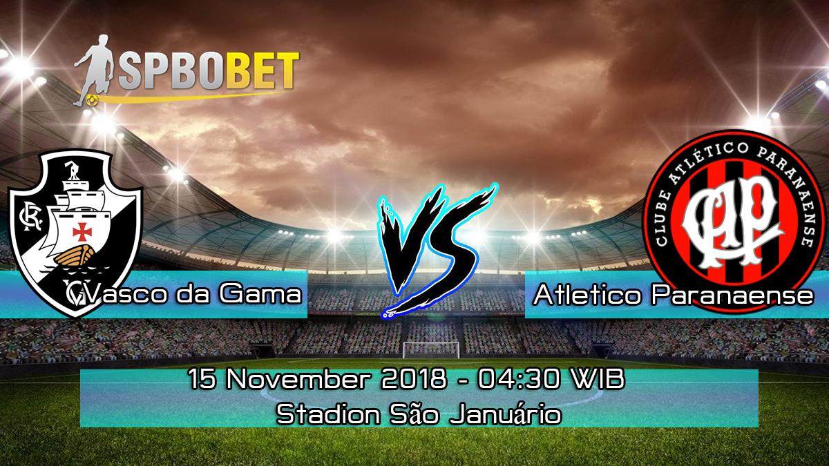 Prediksi Skor Pertandingan Vasco da Gama vs Atletico Paranaense 15 November 2018
